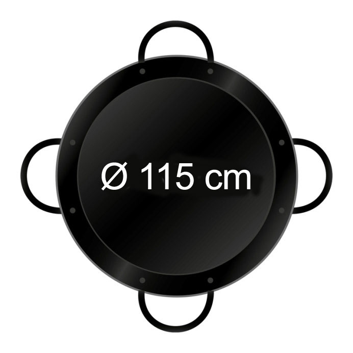 Paella-Pfanne emailliert Ø 115 cm mit 4 Griffen Bild 2