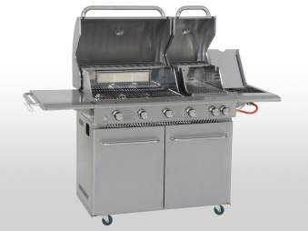 Gasgrill Idaho BBQ Boss Edelstahl Grillfläche 65x50 / 27x50 cm Bild 2