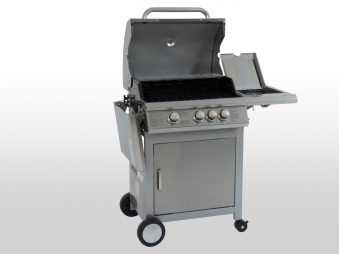 Gasgrill Indiana BBQ Boss Edelstahl Grillfläche 64x44 cm Bild 2