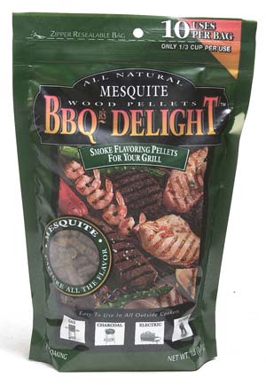 BBQr's-Delight Smoking Pellets - Mesquite Pellets 450g Bild 1