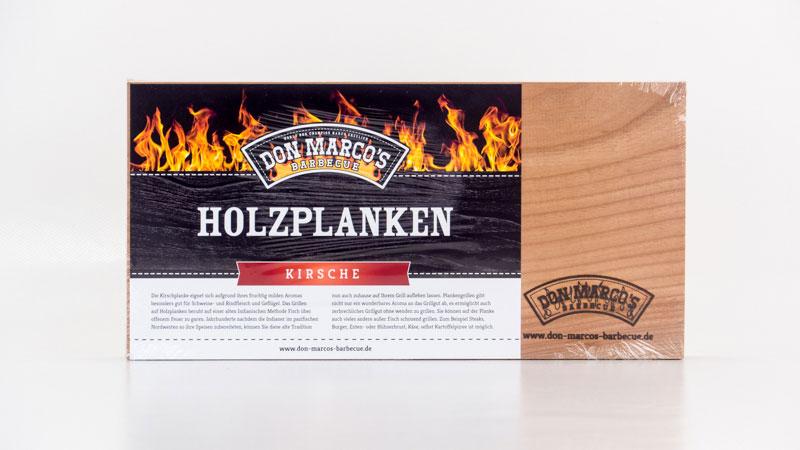 Don Marco´s Barbecue Holzplanke Kirsche 300x150x11mm 2 Stück Bild 1