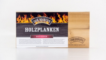 Don Marco´s Barbecue Holzplanke Rote Zeder 300x150x11mm 2 Stück Bild 1