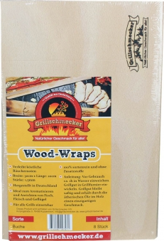 Grillfunier Wood-Wraps Buche 200x300x1,5mm 8Stück Bild 1