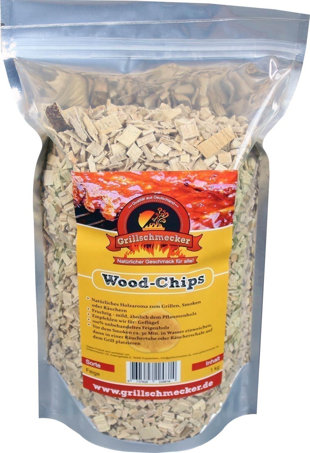 Räucherholz Wood-Chips Feige 1kg Bild 1