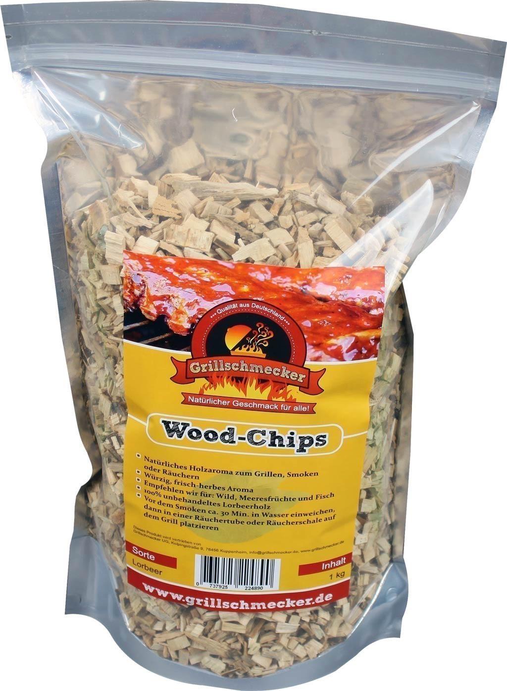 Räucherholz Wood-Chips Lorbeer 1kg Bild 1
