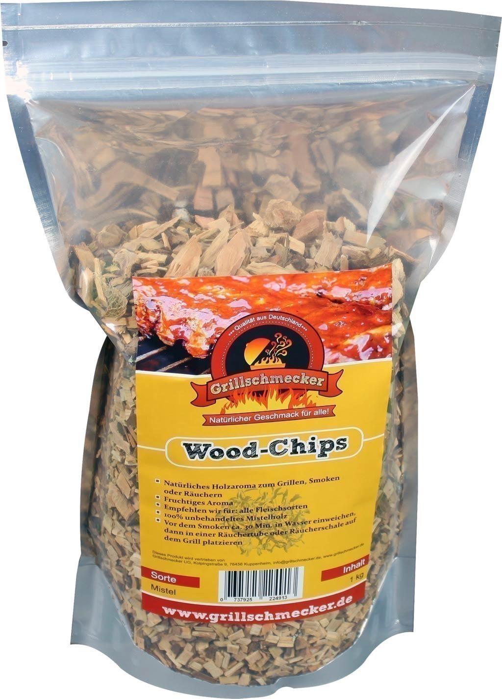 Räucherholz Wood-Chips Mistel 1kg Bild 1