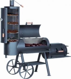 "Barbeque Smoker / Holzkohle Grill Joe´s BBQ 16"" Chuckwagon 100x40cm Bild 4"