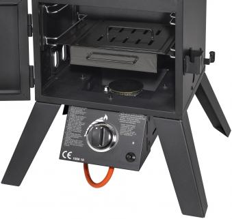 El Fuego Gasgrill / Smoker Standgrill Portland XL Grillfl. 4x 35x34cm Bild 4