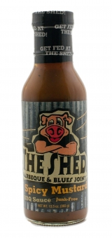 The Shed Spicy Mustard BBQ Sauce 350ml Bild 1