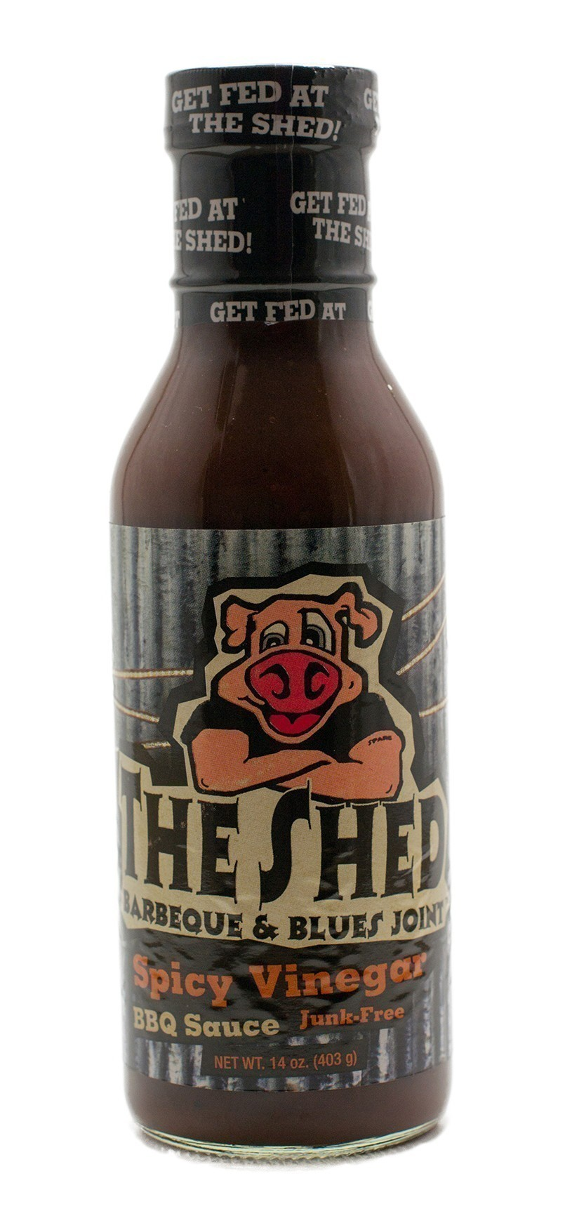 The Shed Spicy Vinegar BBQ Moppin Sauce 350ml - bei edingershops.de
