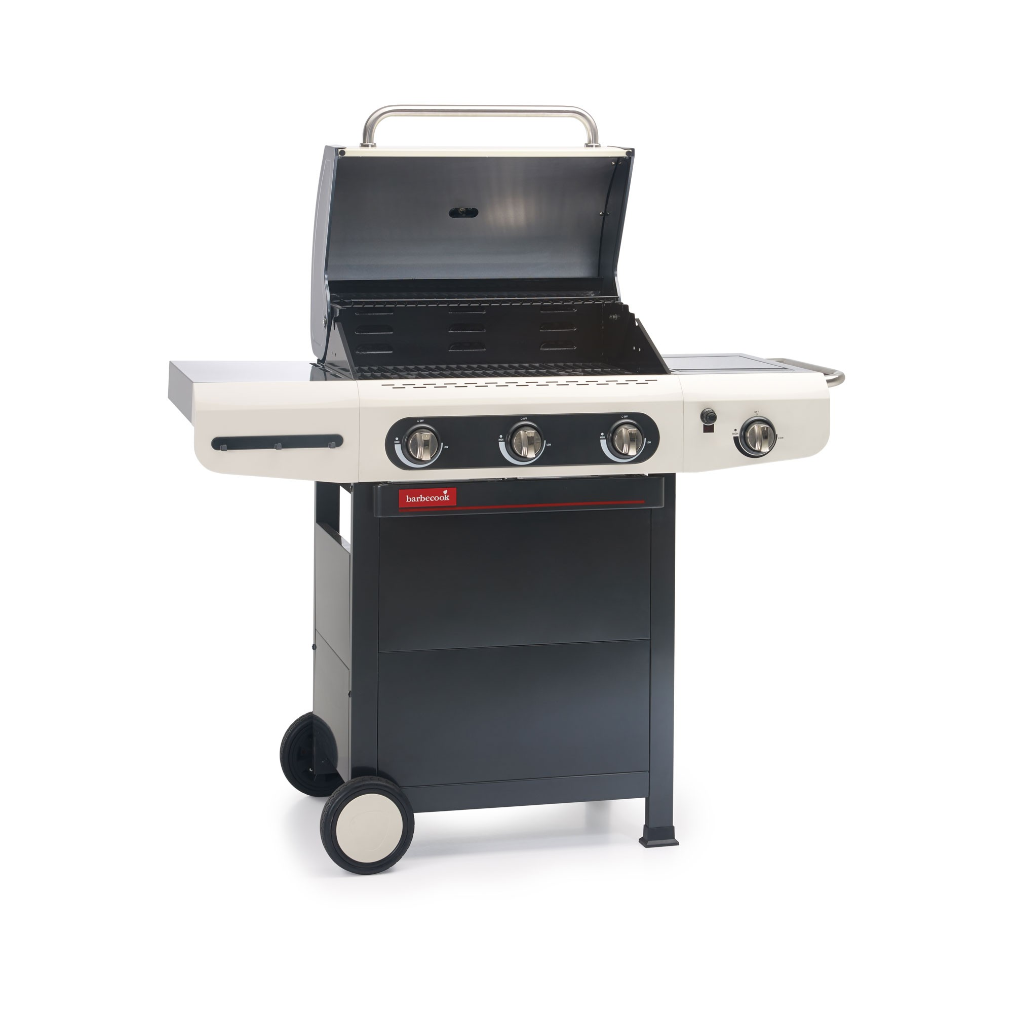 Gasgrill / Gasgrillwagen barbecook Siesta 310 creme m. Plancha 62x43cm Bild 2