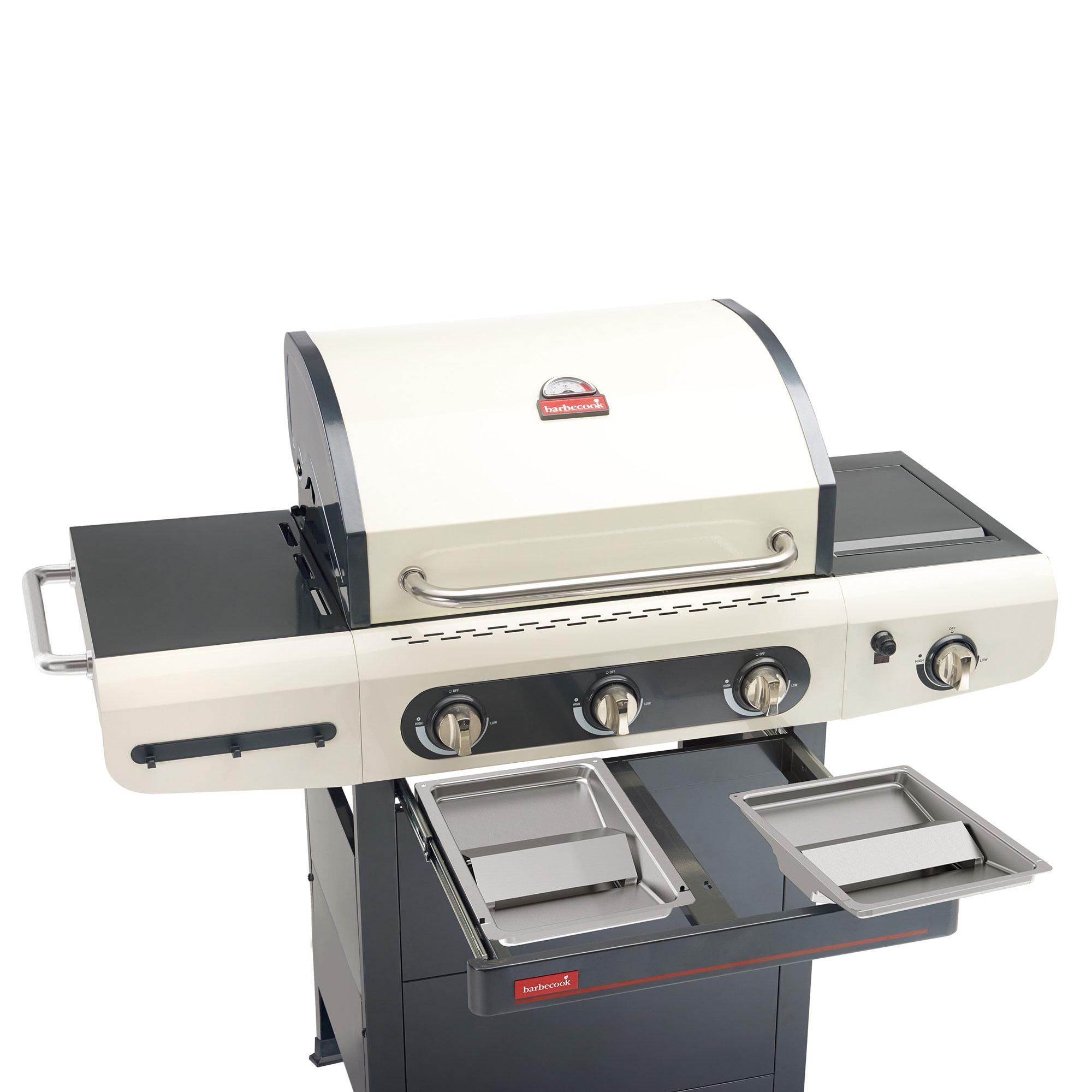 Gasgrill / Gasgrillwagen barbecook Siesta 310 creme m. Plancha 62x43cm Bild 3