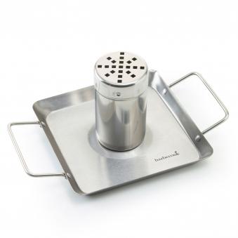 Geflügelhalter / Hähnchenhalter barbecook Edelstahl mit Auffangwanne Bild 2