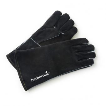 Grillhandschuhe / Handschuhe aus Wildleder 35 cm schwarz  barbecook Bild 1