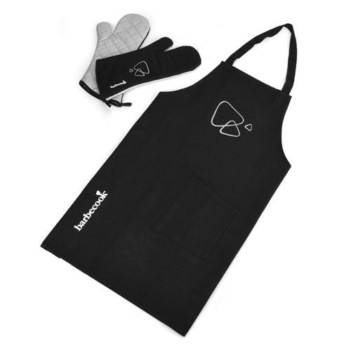 Grillschürze und Grillhandschuhe barbecook 3tlg. Set schwarz Bild 1