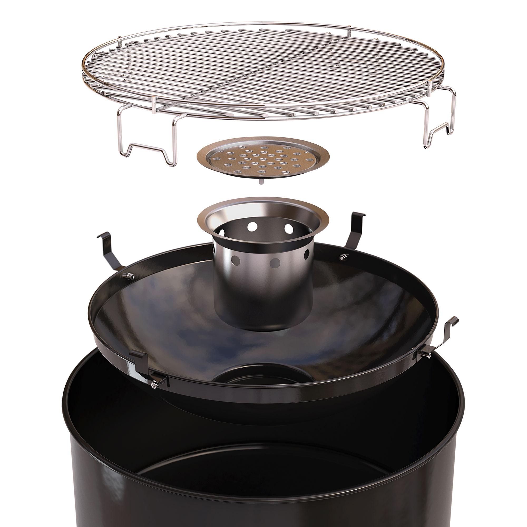 Grilltonne / Feuertonne barbecook Edson Black Grillfläche Ø47,5cm Bild 2