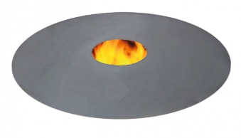 Feuerplatte Grill Plancha Grillplatte für Feuertonne und Kugelgrill 80