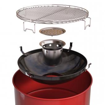 Grilltonne / Ghettotonne barbecook Edson Red Grillfläche Ø 47,5 cm Bild 2