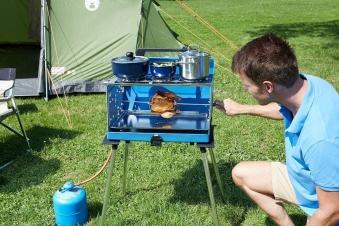 Campingaz Camping Gaskocher / Koffergasgrill 200 SGR Grillfl. 53x29cm Bild 3