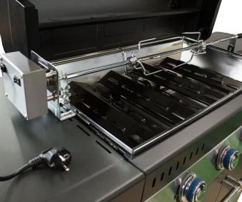 Campingaz Premium Drehspieß Edelstahl mit Motor für 3 & 4 Series Bild 2