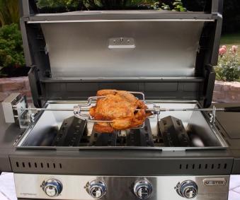 Campingaz Premium Drehspieß Edelstahl mit Motor für 3 & 4 Series Bild 4