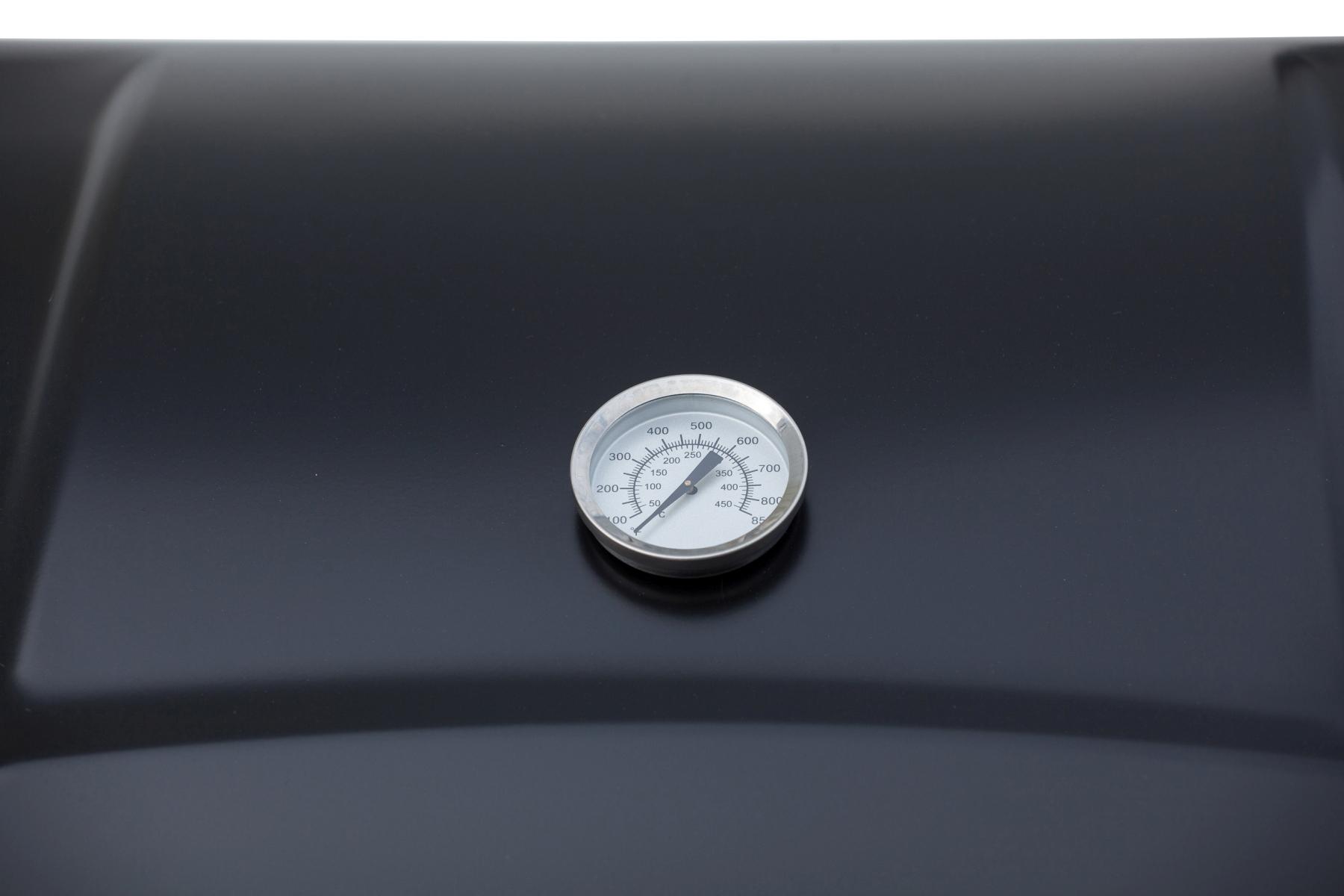 El Fuego Gasgrill / Grillwagen Dayton 6+1 schwarz Grillfläche 69x35cm Bild 8