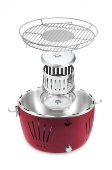 El Fuego Holzkohlegrill / Rauchfreier Grill Tulsa Ø 32cm rot Bild 3