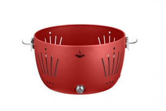 El Fuego Holzkohlegrill / Rauchfreier Grill Tulsa Ø 32cm rot Bild 8
