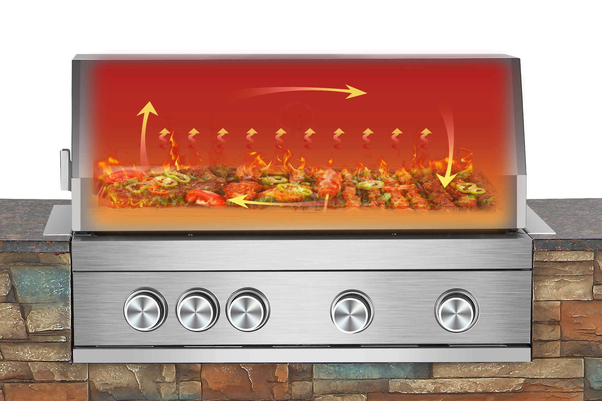 El Fuego Outdoor Grillküche Built In Edelstahl 4 +1 Infrarot Bild 8