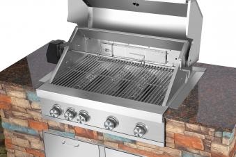 El Fuego Outdoor Grillküche Built In Edelstahl 4 +1 Infrarot Bild 3