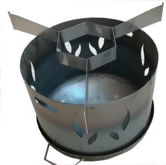 Auflageleisten / Abstandshalter Stahl für Ø80cm Feuerplatte Bild 2