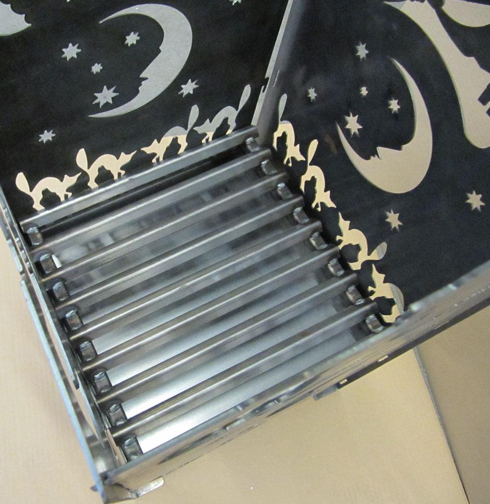 Feuerkorb Metall Hexe XXL 36x36x75cm Bild 2