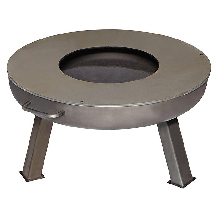 Feuerplatte Grillplatte + Feuerschale + Aufsatz  Set XXL Ø 55cm Set 1 Bild 6