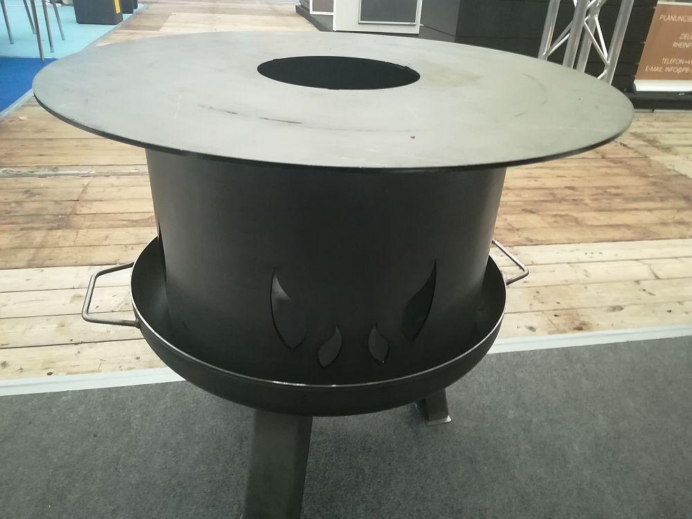 Feuerplatte Grillplatte + Feuerschale + Aufsatz  Set XXL Ø 55cm Set 1 Bild 9