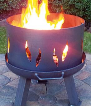 Feuerplatte Grillplatte + Feuerschale + Aufsatz  Set XXL Ø 55cm Set 1 Bild 4
