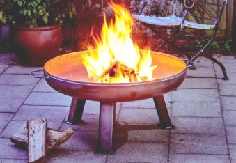 Feuerplatte Grillplatte + Feuerschale + Aufsatz  Set XXL Ø 55cm Set 1 Bild 5