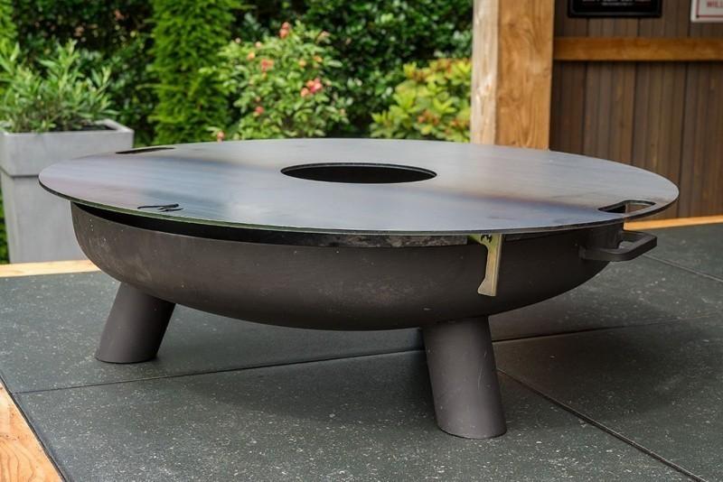 Feuerplatte, Grillplatte, Grillring, Plancha für Stahltonne Ø80cm Bild 3