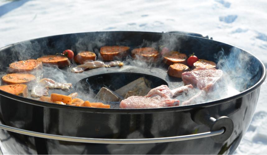 Feuerplatte, Plancha, Grillring für Kugelgrill Ø57cm Bild 4