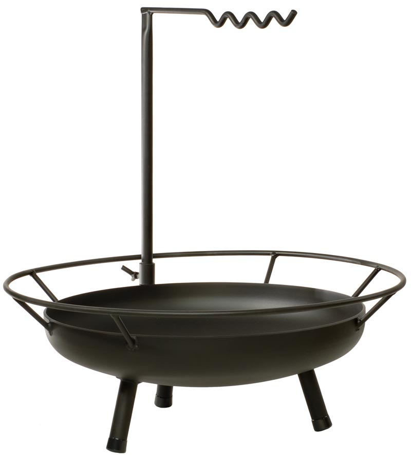 feuerschale schwenkgrill kochstelle grill stahl firepit 90x95cm bei. Black Bedroom Furniture Sets. Home Design Ideas