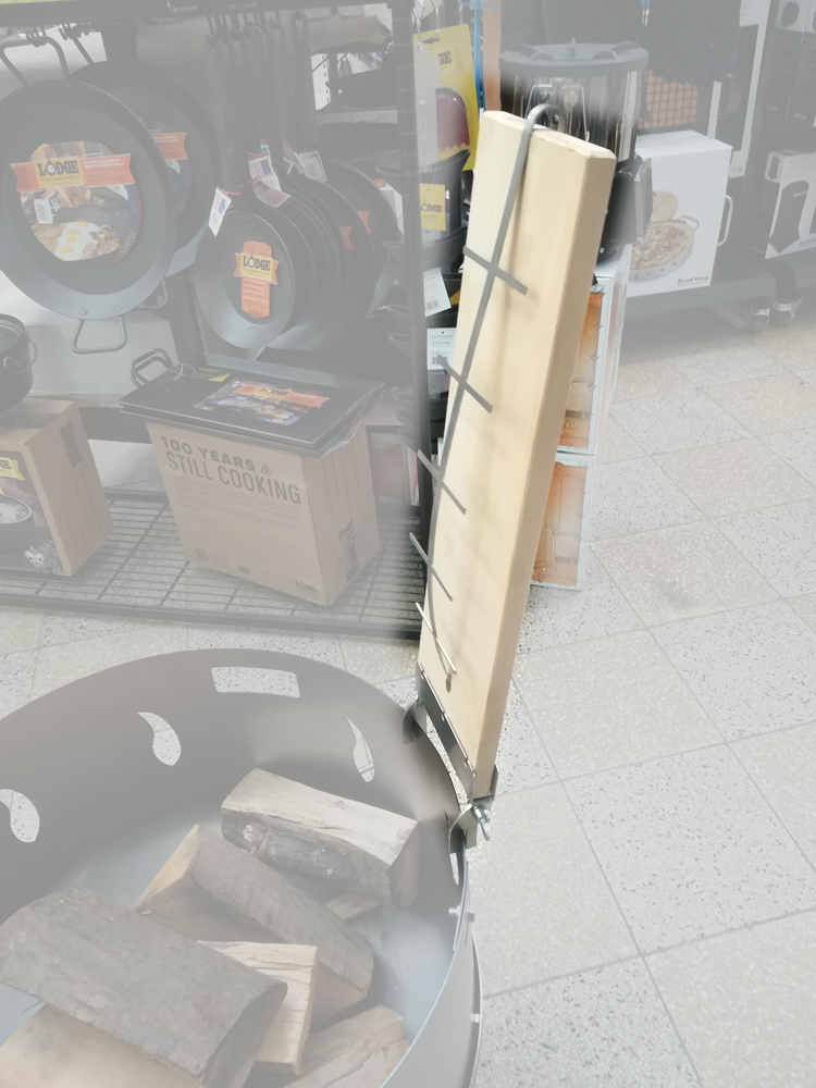 Feuerschale Set 80cm mit Flammlachsbrett Bild 3