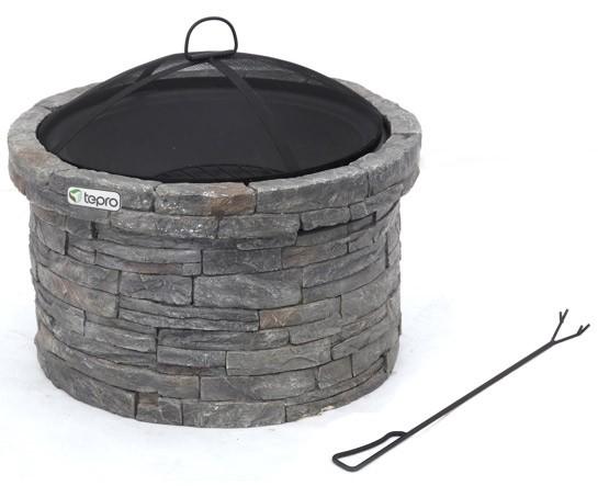 feuerstelle terrassenfeuer gladstone steinoptik ca 68 cm bei. Black Bedroom Furniture Sets. Home Design Ideas