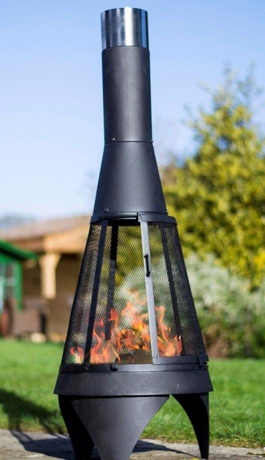 Feuerstelle / Terrassenofen Buschbeck Colorado Mesh L Stahl Ø60x160cm Bild 1
