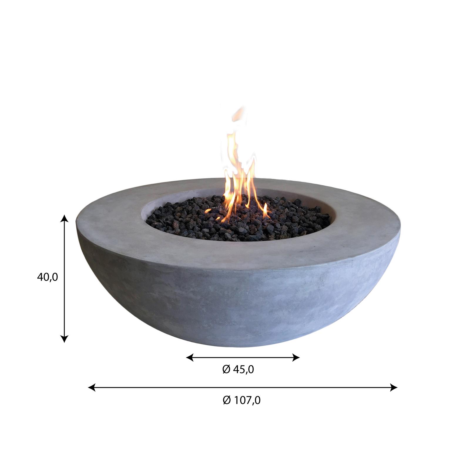 GardenForma Abdeckung für 5kg Gasflasche Faser-Beton Travertiner