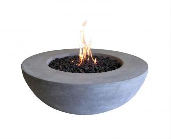 Gas Feuerstelle / Gartenfeuer GardenForma Ätna Betonoptik grau Bild 1