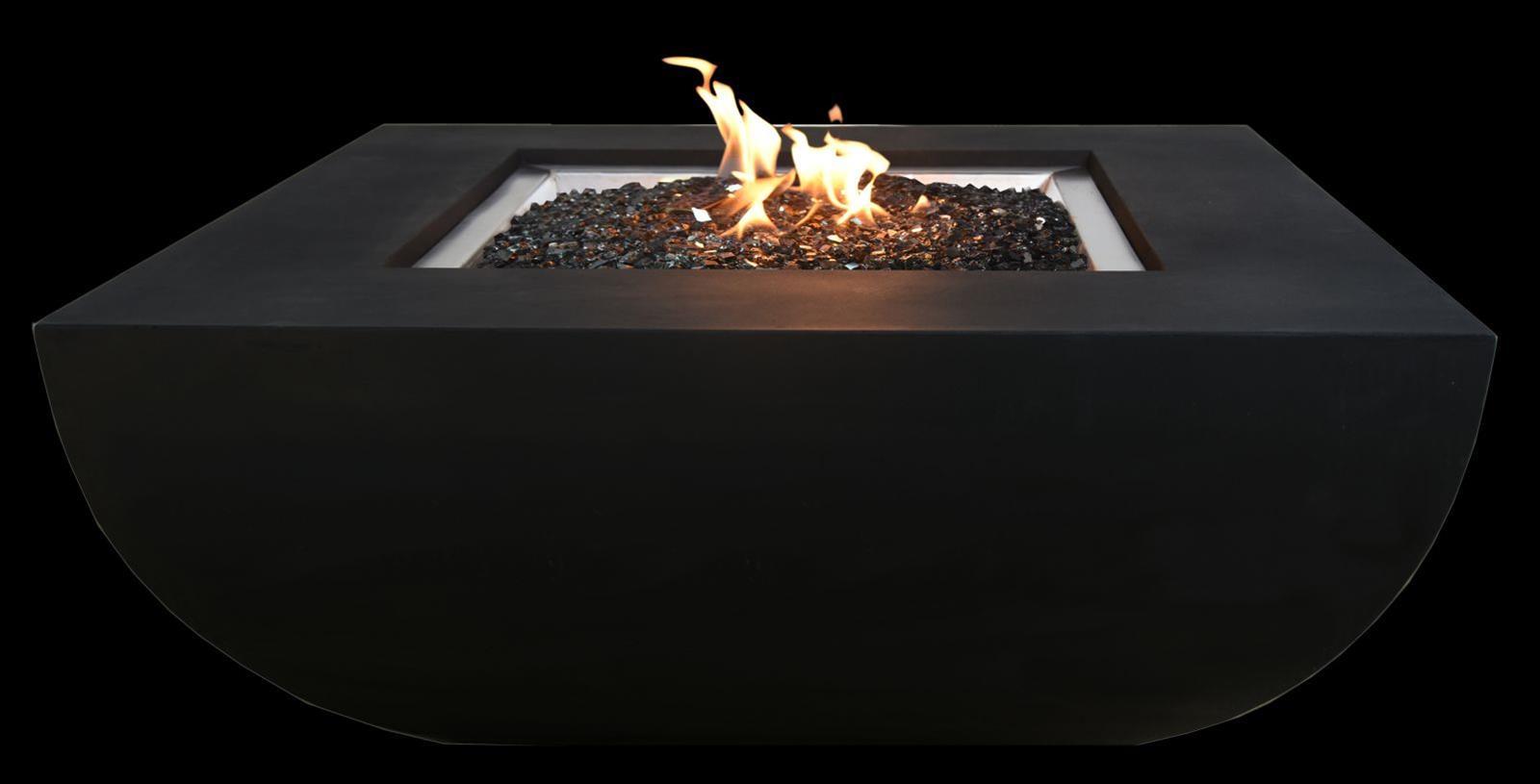 Gas Feuerstelle / Gartenfeuer GardenForma Itasy Beton-Optik schwarz Bild 1