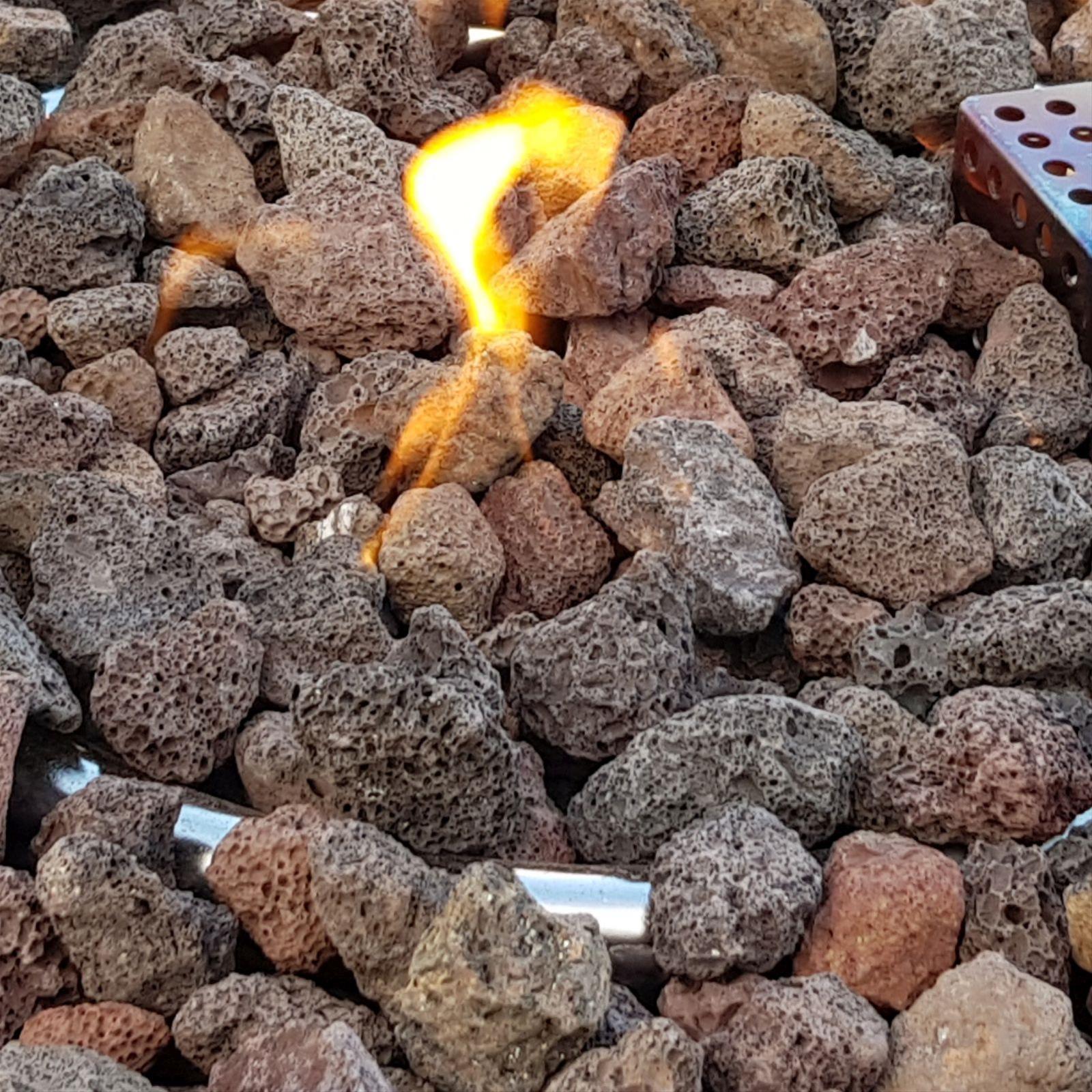Gas Feuerstelle / Gartenfeuer GardenForma Itasy Beton-Optik schwarz Bild 4