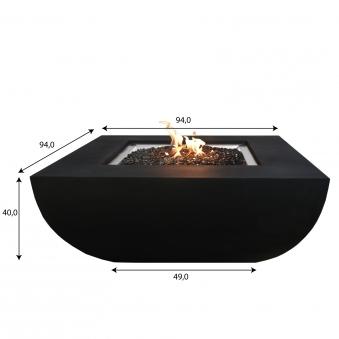 Gas Feuerstelle / Gartenfeuer GardenForma Itasy Beton-Optik schwarz Bild 5
