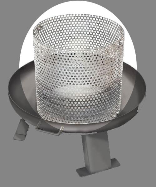 Partyfeuer - Feuereinsatz Einsatz für Feuerschale Eisen Ø 38cm Bild 1