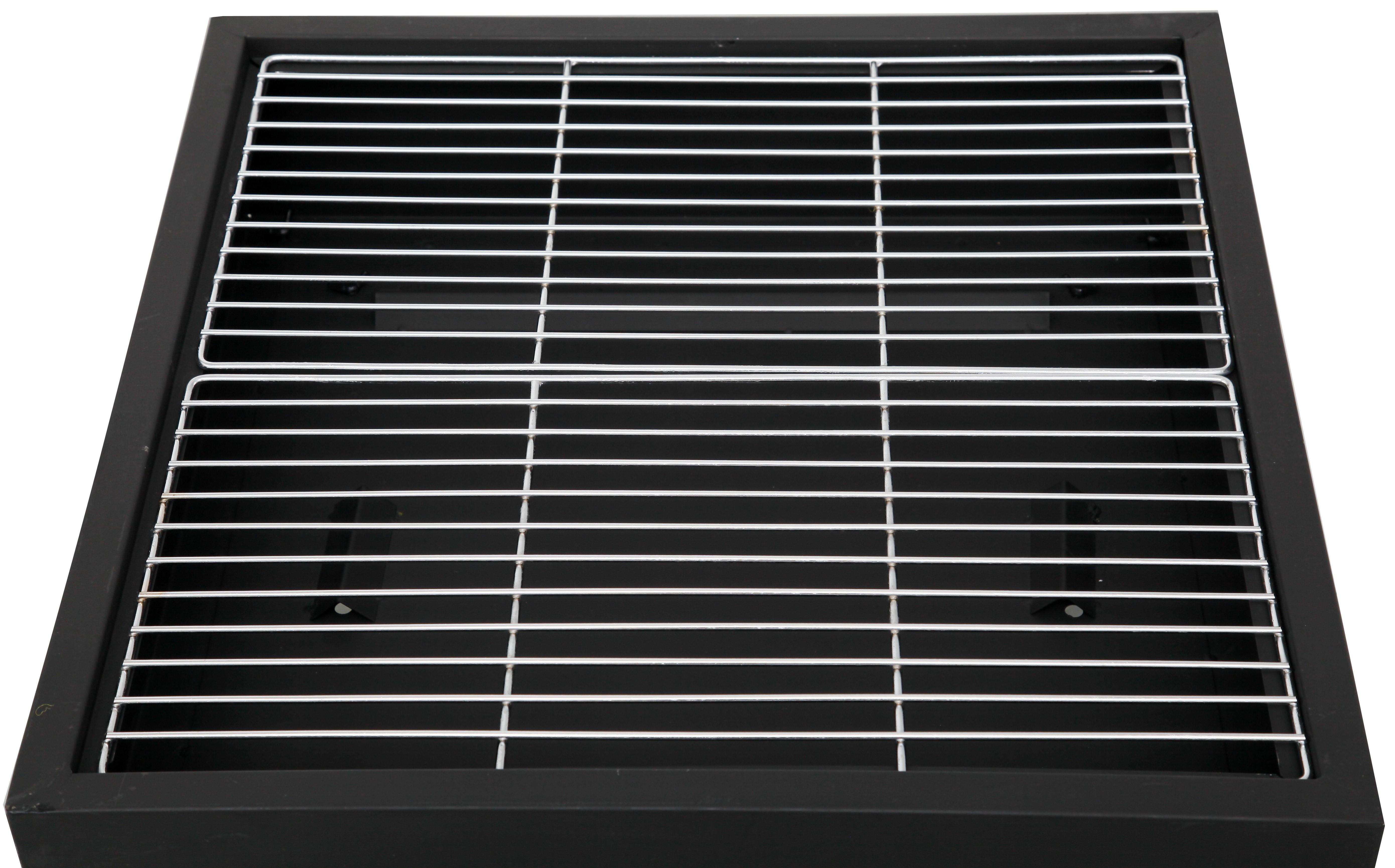 tepro feuerstelle feuerschale laredo mit grill grillfl che 55x55cm bei. Black Bedroom Furniture Sets. Home Design Ideas