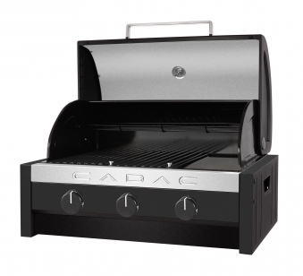 CADAC Gasgrill / Tischgrill Stratos Tabletop 3B schwarz 57x41,5cm Bild 2